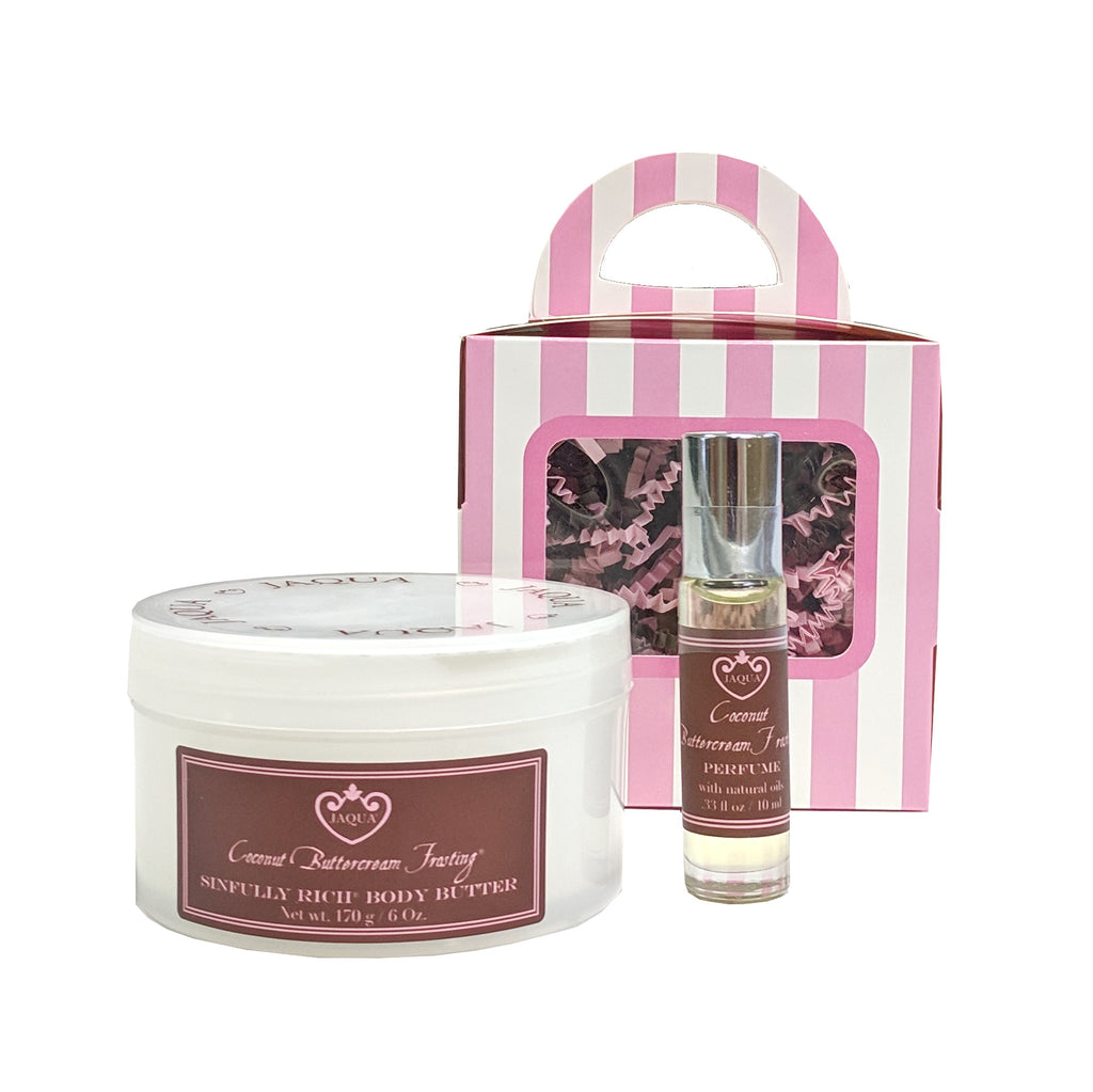 coconut buttercream perfume oil & body butter gift set