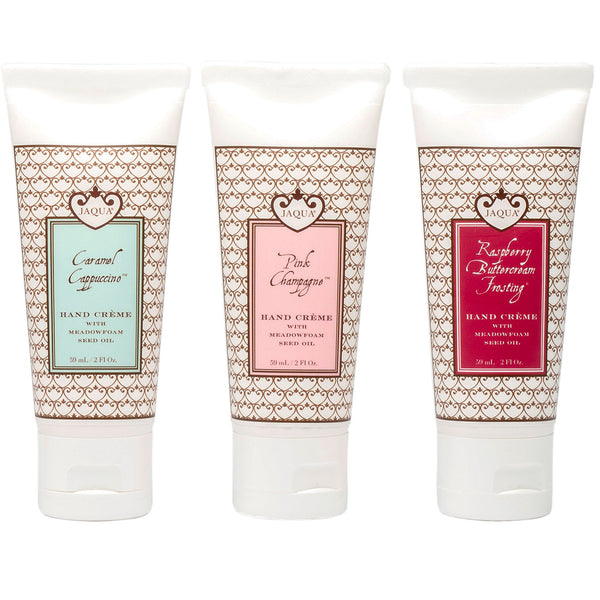 Hand Creme Trio - Caramel Cappuccino - Pink Champagne - Raspberry Buttercream Frosting