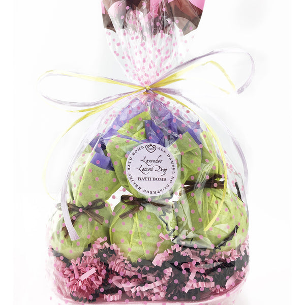Lavender Lemon Drop 3 Piece Bath Bomb Set