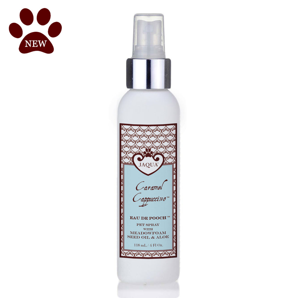 Caramel Cappuccino Eau de Pooch Pet Spray with Organic Aloe & Meadowfoam Seed Oil