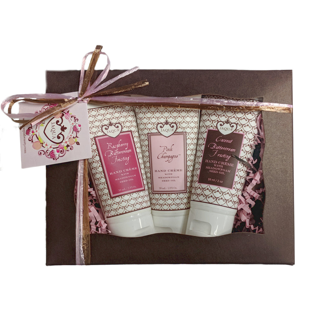 Coconut Raspberry Pink Champagne Hand Creme Gift Set