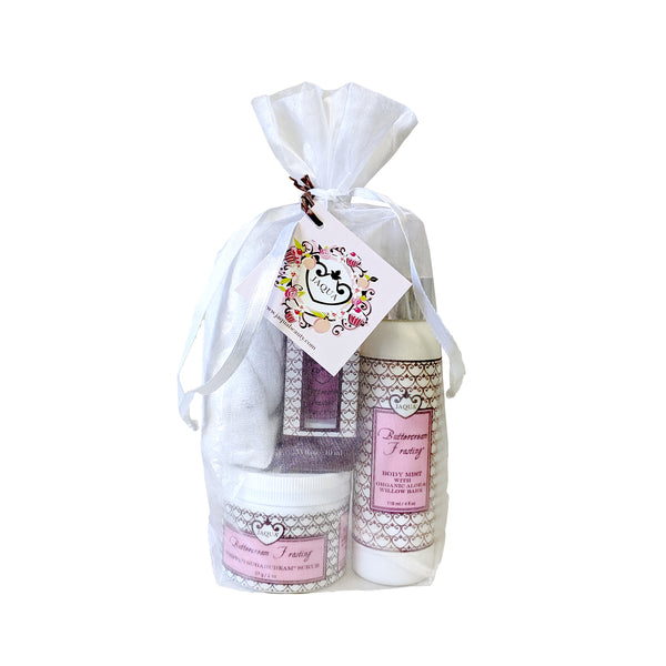 Buttercream Frosting Gift Bag Scrub Perfume Body Mist