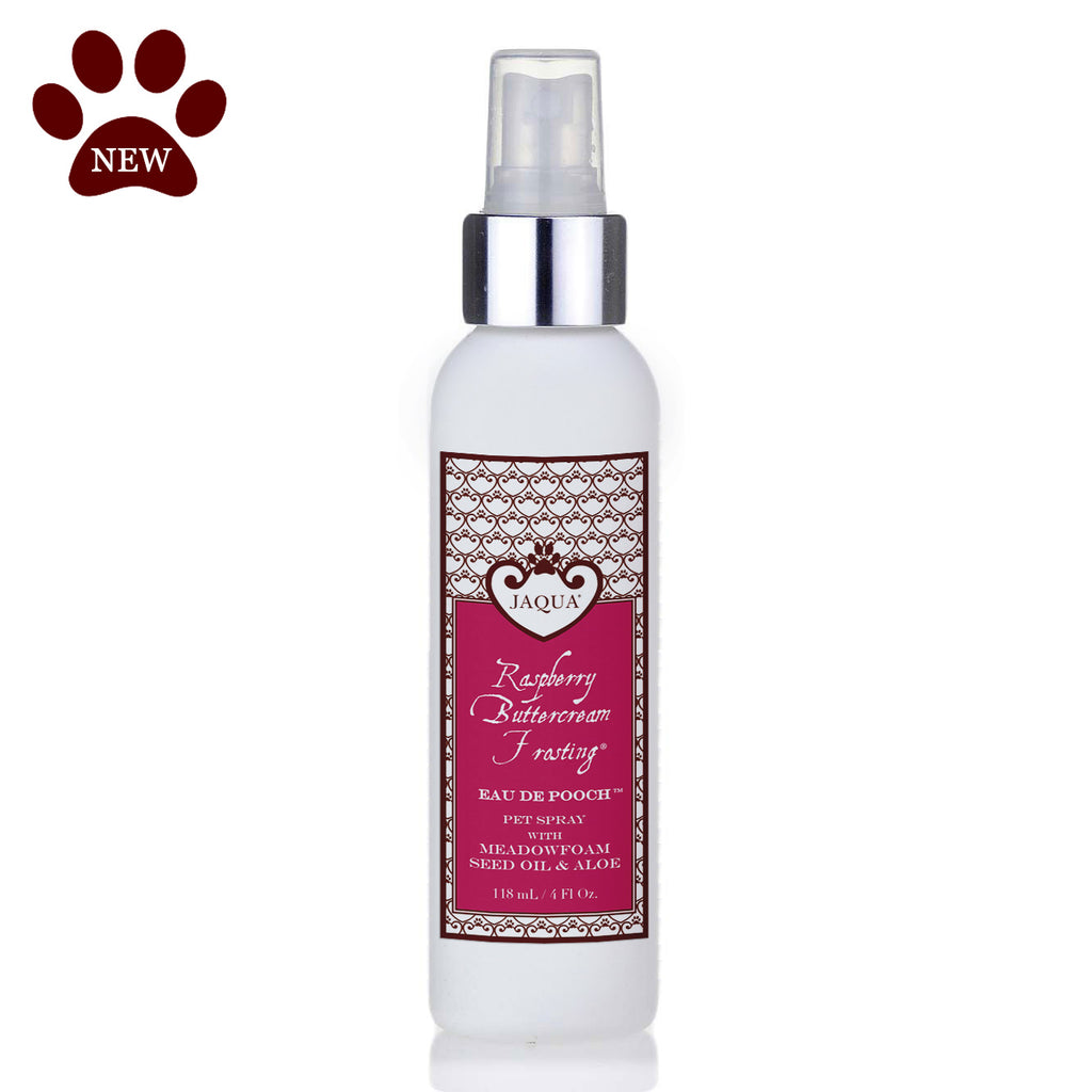 Raspberry Buttercream Frosting Eau de Pooch Pet Spray with Organic Aloe & Meadowfoam Seed Oil
