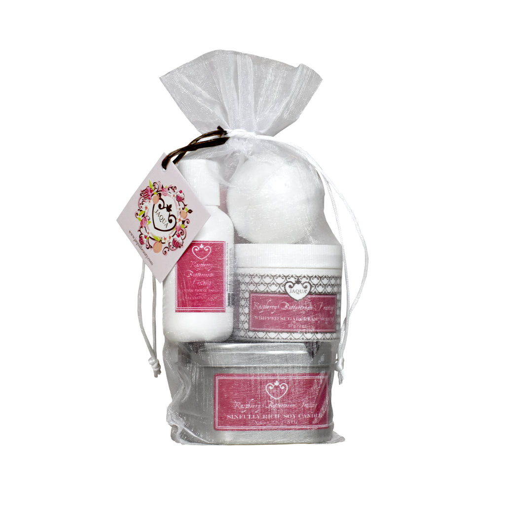 Raspberry Buttercream Frosting Bath Time Gift Set