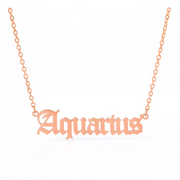 Zodiac Sign Necklace Rose Gold