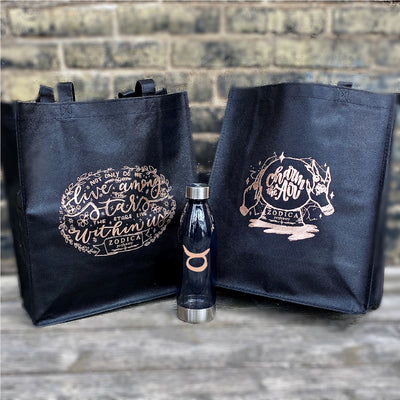 Zodiac Water Bottle + Tote Bag Set