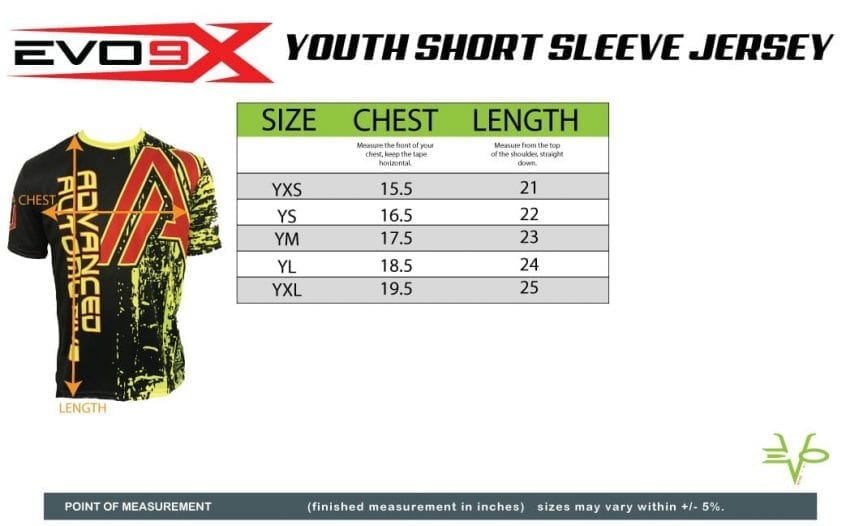 YOUTH SHORT SLEEVE JERSEY