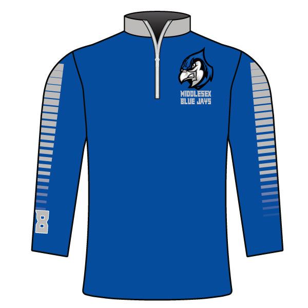 Evo9x BLUE JAYS Full Dye Sublimated Quarter Zip Jacket