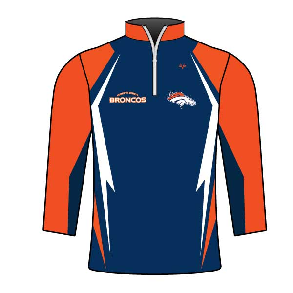 FORSYTH COUNTY BRONCOS 1/4 ZIP JACKET
