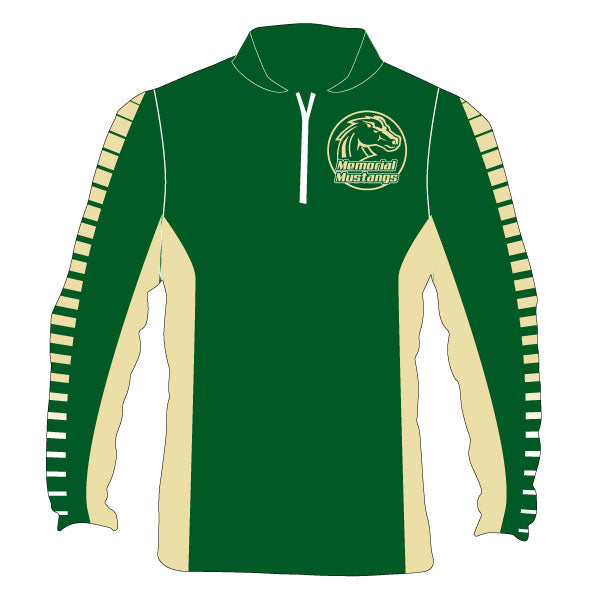 MEMORIAL MUSTANGS 1/4 ZIP JACKET