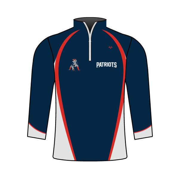 NM PATRIOTS 1/4 ZIP JACKET
