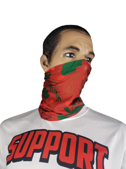 Evo9x CHRISTMAS Face Covering Gaiter Red