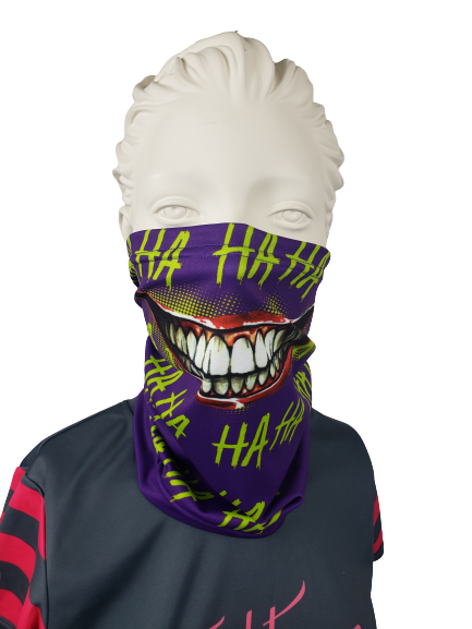 Evo9x JOKER LAUGH Face Covering Gaiter