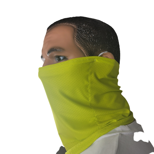 Evo9X NEON YELLOW SAFETY Ear Loop Gaiters | Totally Customizable