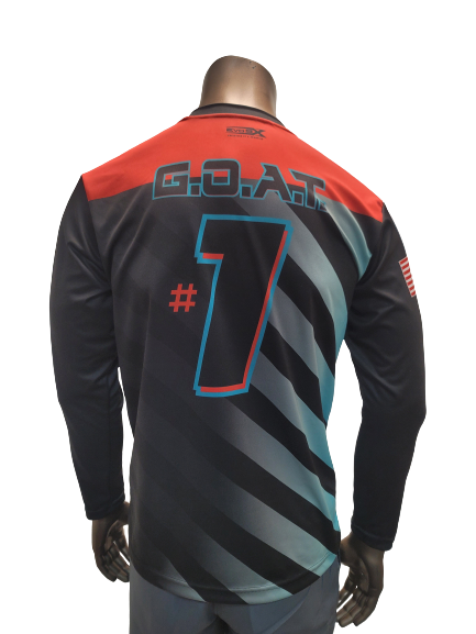 Evo9x EVOLUTION OF THE GOAT Long Sleeve Jersey Black