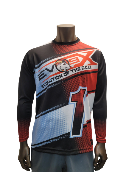 Evo9x EVOLUTION OF THE GOAT Long Sleeve Jersey White