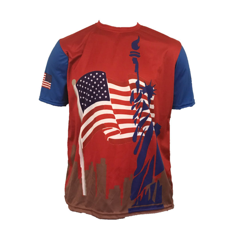 Custom Evo9x EVO CITYSCAPE USA Full Dye Sublimated Crew Neck Shirt