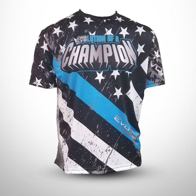 Evo9x STARS & STRIPES Full Dye Sublimated Jersey Black/Blue