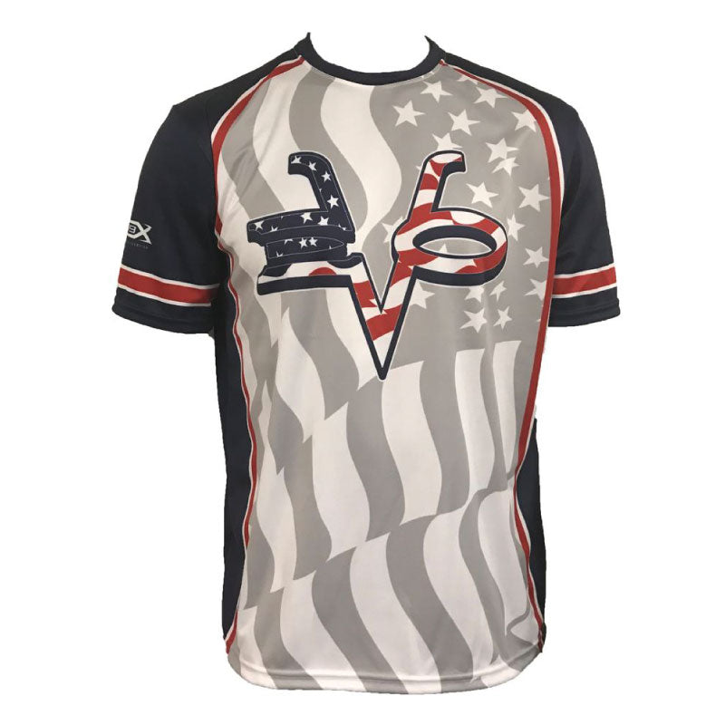 Evo9x EVO STAR SPANGLED Full Dye Sublimated Crew Neck Shirt