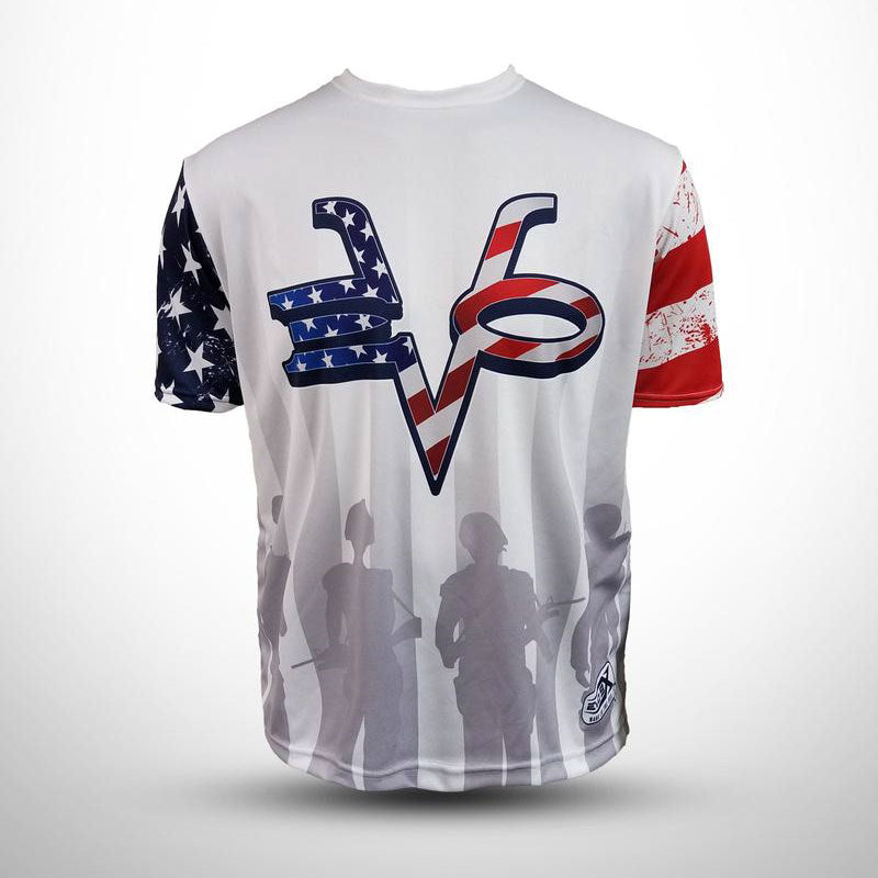 Evo9x WHT PAT Full Dye Sublimated Short Sleeve Crew Neck Jersey