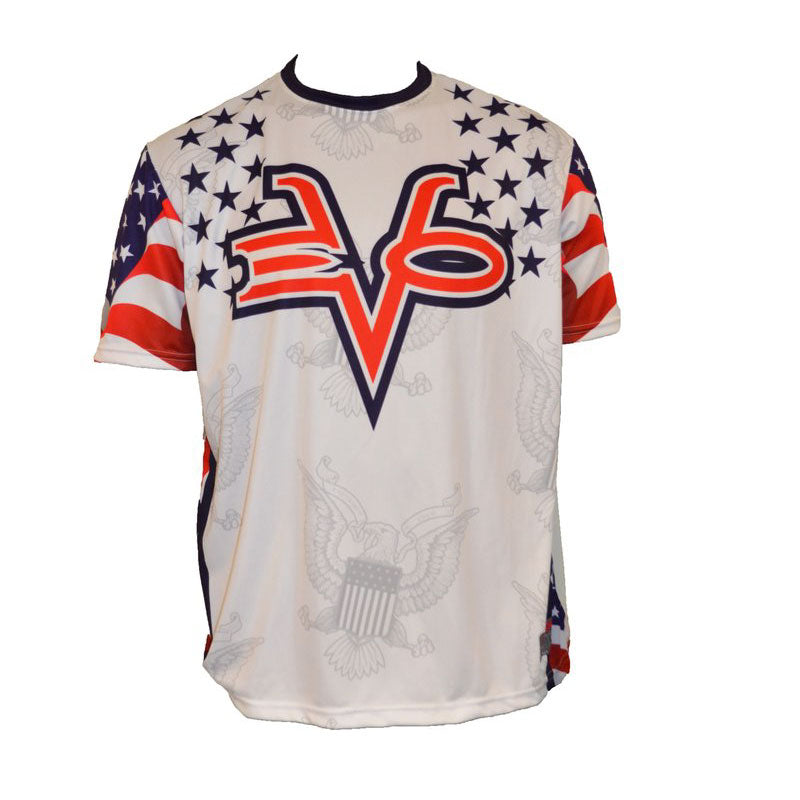 Evo9x EVO USA FLAG STAMP Full Dye Sublimated Crew Neck Shirt