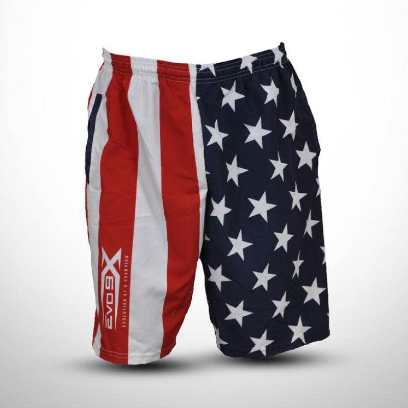 Evo9x AMERICAN FLAG Design Full Dye Sublimated Microfiber Shorts