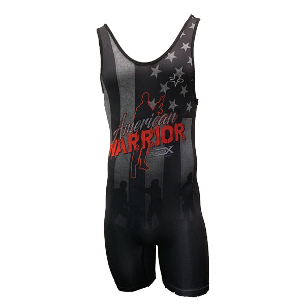 Evo9x American Warrior Full Dye Sublimated Wrestling Singlet