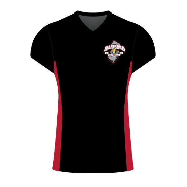 MARLBORO SOFTBALL WOMEN'S CAP SLEEVE SHIRT BLACK