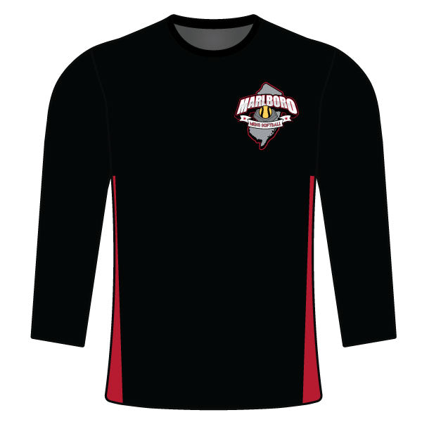 MARLBORO SOFTBALL LONG SLEEVE SHIRT BLACK