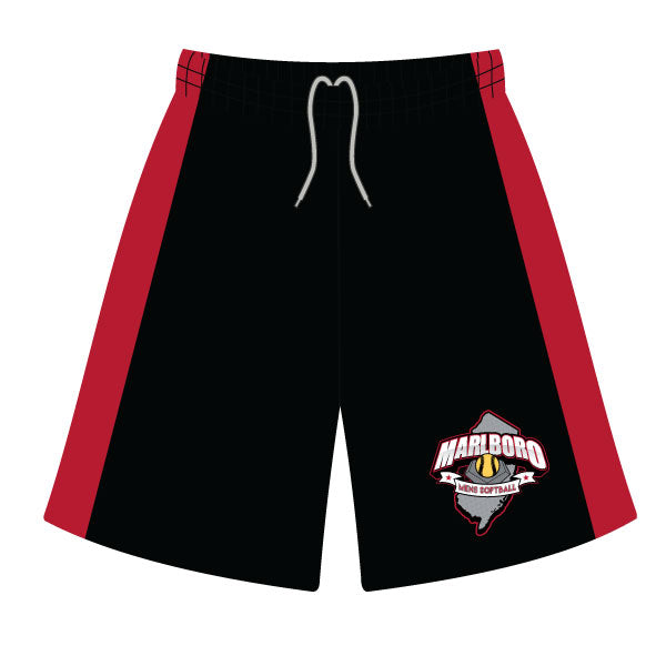MARLBORO SOFTBALL SHORTS BLACK