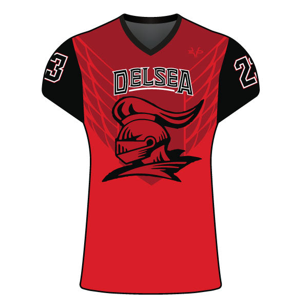 Evo9x DELSEA KNIGHTS Full Dye Sublimated Women's Cap Sleeve Shirt