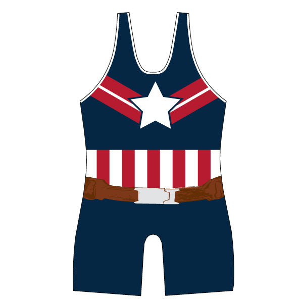 Evo9x SHIELD HERO Full Dye Sublimated Wrestling Singlet