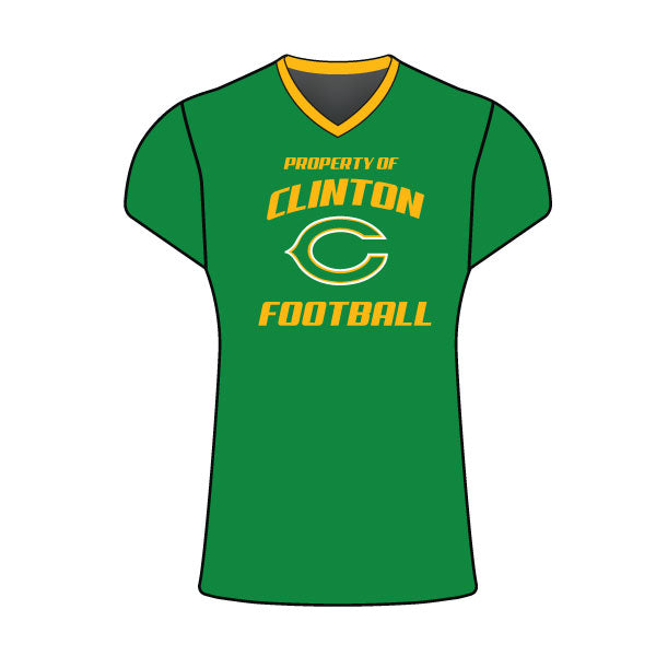 CLINTON GAELS FOOTBALL CAP SLEEVE SHIRT GREEN