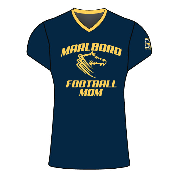 MARLBORO FOOTBALL MOM CAP SLEEVE SHIRT