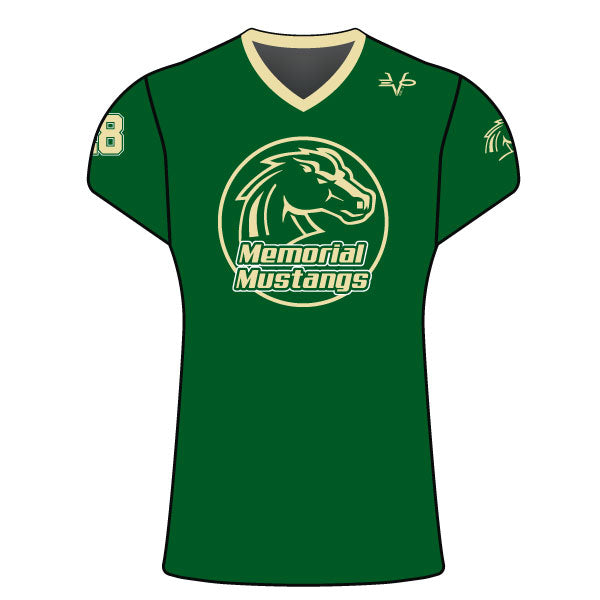 MEMORIAL MUSTANGS WOMENS CAP SLEEVE SHIRT