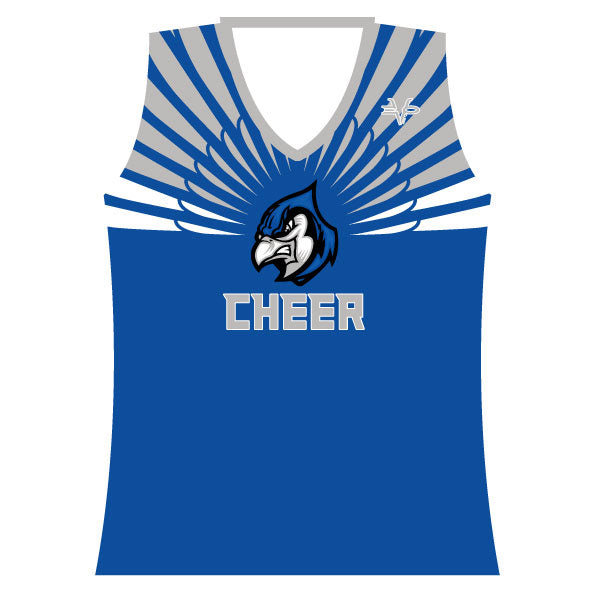 Evo9x BLUE JAYS Full Sublimated Cheer Racerback Tank Top