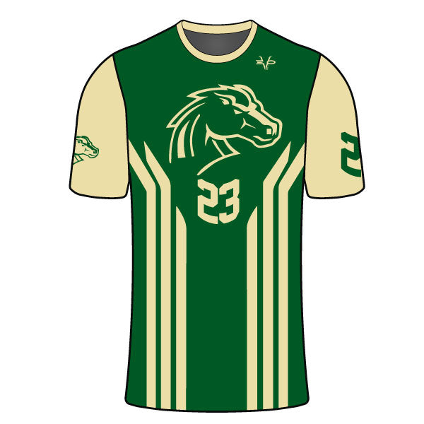 MEMORIAL MUSTANGS COMPRESSION SHIRT