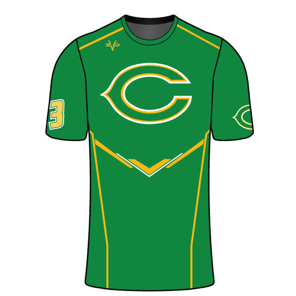 Evo9x CLINTON GAELS Full Dye Sublimation Compression Shirt Green
