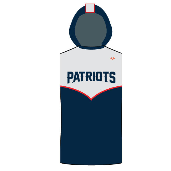 NM PATRIOTS SLEEVELESS COMPRESSION HOODIE