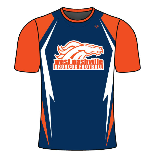 Evo9x BRONCOS Full Dye Sublimated Crew Neck Football Shirt