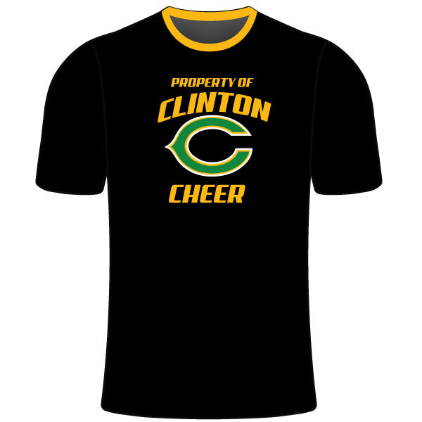 Evo9x CLINTON GAELS Full Dye Sublimated Cheer Crew Shirt