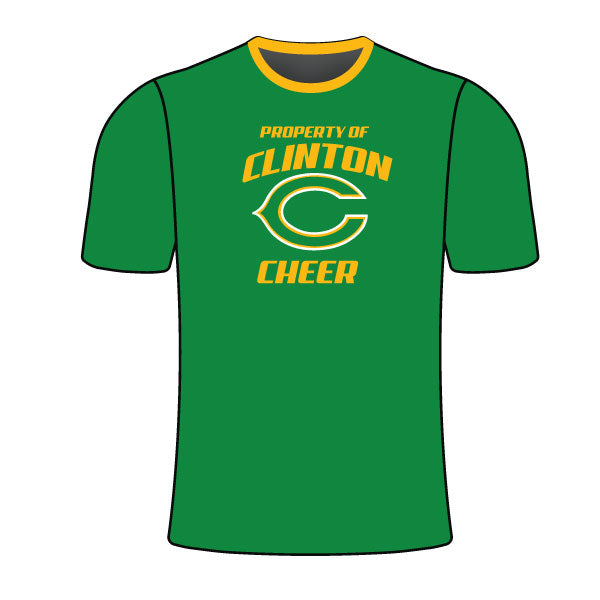 CLINTON GAELS CHEER CREW SHIRT GREEN