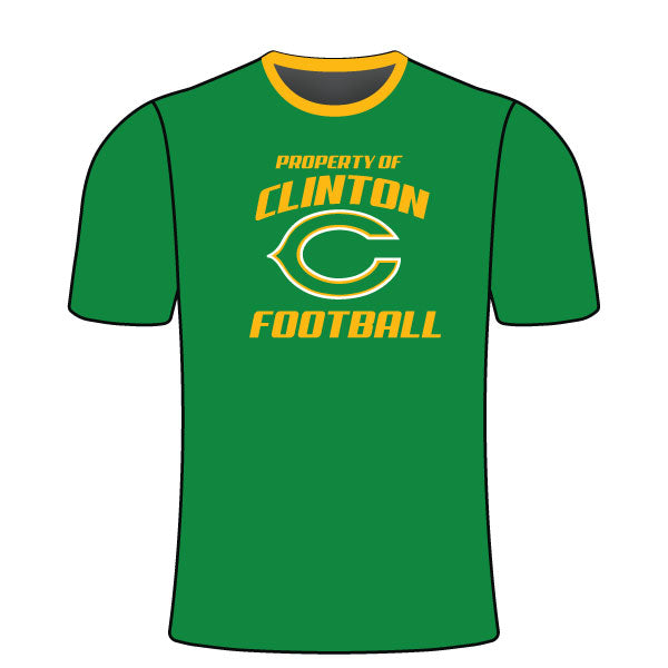 Evo9x CLINTON GAELS Full Sublimated Football Crew Neck Shirt Green