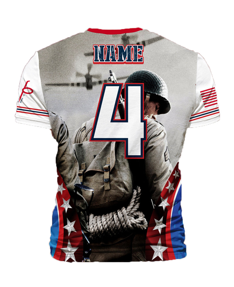 FULL DYE SUBLIMATED HEROES SALUTE GREY '18 MEMORIAL SHIRT