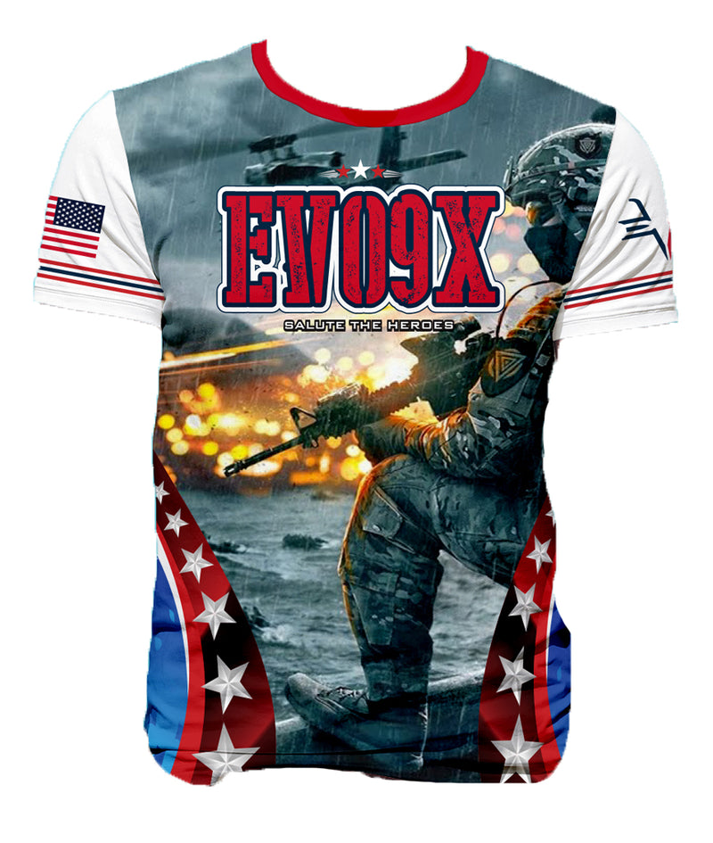 FULL DYE SUBLIMATED HEROES SALUTE BLUE '18 MEMORIAL SHIRT