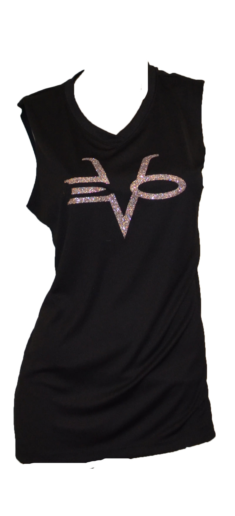 Evo9x EVO STAMP Sleeveless Jersey Black/Silver CLEARANCE