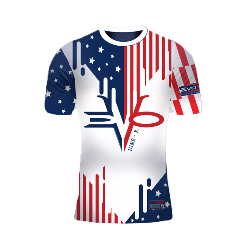 WOMENS EVO STARS N STRIPES DRIP SHIRT