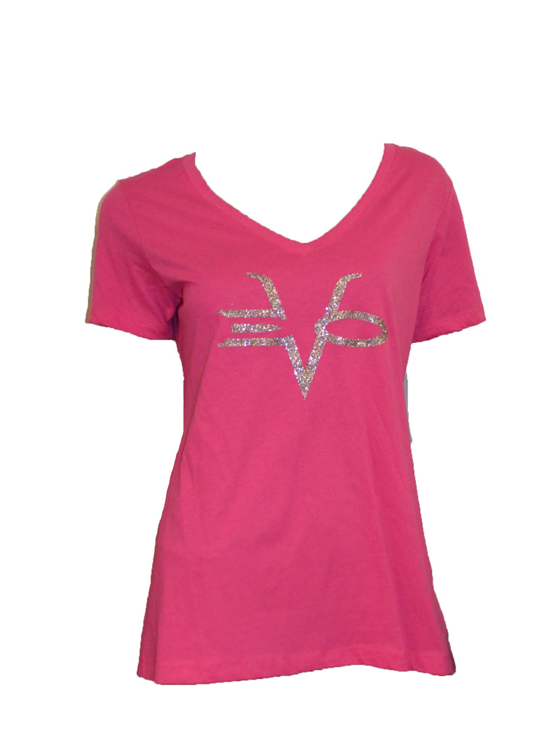 EVO STAMP HALF SLEEVE PINK SILVER CLEARANCE