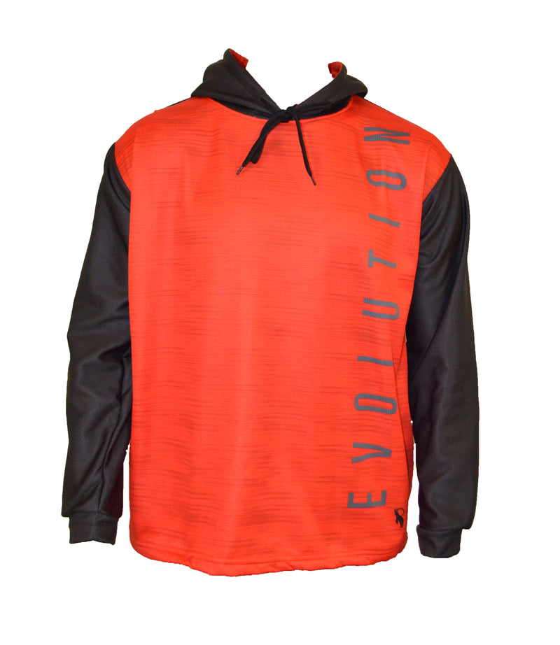 Evo9x EVO HASH Sublimated Draw String Pullover Hoodie Red/Black