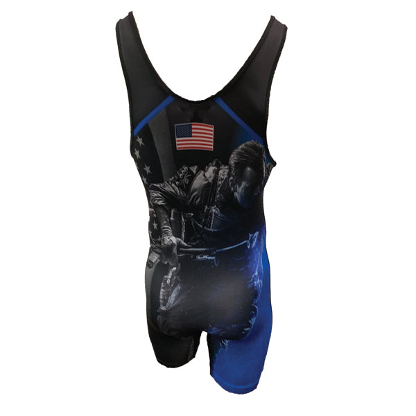 Evo9x FREEDOM FIGHTER Full Dye Sublimated Wrestling Singlet